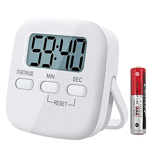 Digitaler Küchentimer Magnetisch Eieruhr Timer Digital Küchenuhr mit Stoppuhr Countdown Count up, Küchenwecker Zeitmesser Küche Kurzzeitwecker mit LCD zum Kochen Backen, Sport, Studieren, mit Batterie
