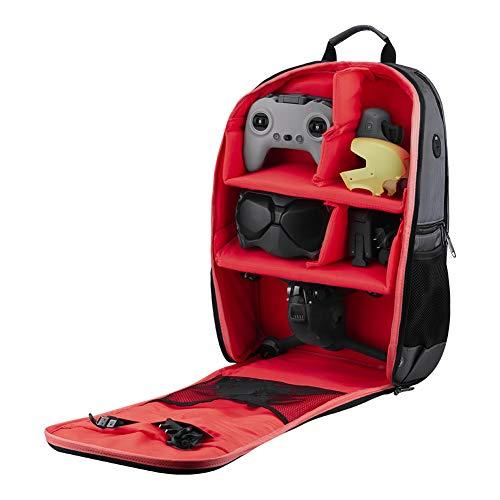 Drone Carrying Backpack, zaino per fotocamera impermeabile, borsa a tracolla per DJI FPV e per la maggior parte delle fotocamere c'è spazio per un notebook