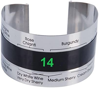 Bracelet Thermometer Grape Red Wine Temperature Sensor for Beer Home Brewing SoundsBeauty product image