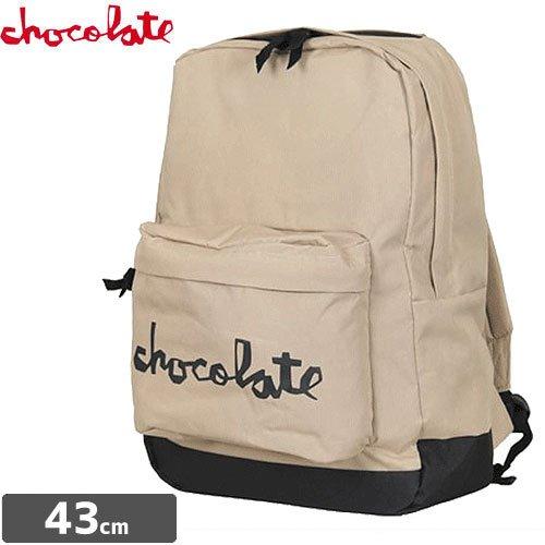 【チョコレート CHOCOLATE スケボー バックパック】CHUNK BACKPACK リュック NO16 (タン, ワンサイズ)