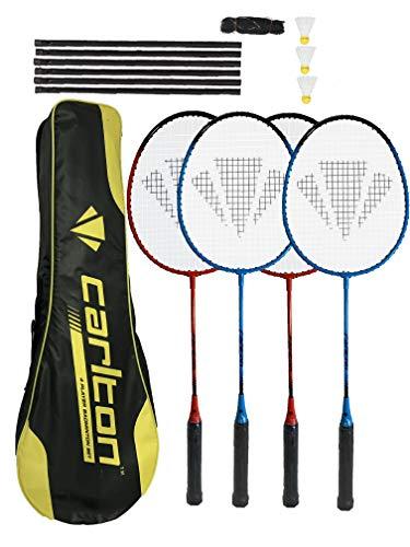 Dunlop Carlton Badmintonschläger (2 Spieler, 4 Spieler und Familienoptionen), rot