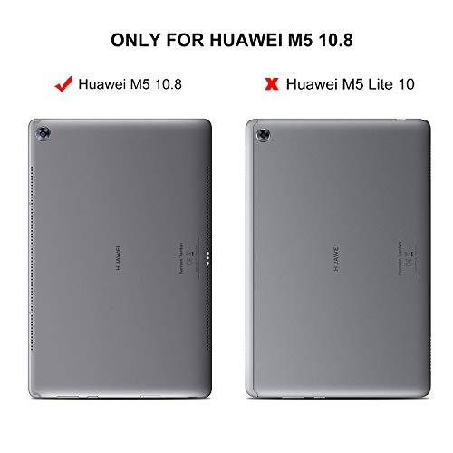 IVSO Tastatur Hülle für Huawei MediaPad M5 10.8, [Deutsches QWERTZ-Layout] Keyboard Case für Huawei MediaPad M5 10.8 Pro / M5 10.8 Zoll 2018 Modell,Rosegold - 2