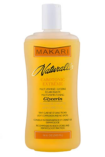 Makari Naturalle Carotonic Extreme BODY GLYCERIN 16.6 Oz – Reduces Hyperpigmentation, Dark Spots, Scars and Free Radicals - Moisturizes, Brightens, and Softens For Healthy and Glowing Skin