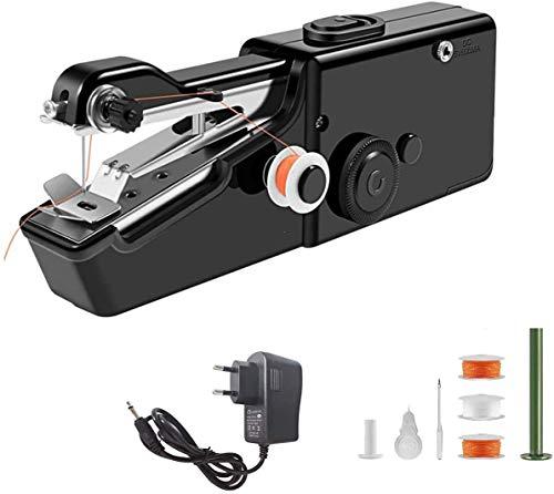 Mini Máquina de Coser Portatil con 70 piezas Bolsa de Coser - Eléctrica de Mano Máquina de Coser (Negro)