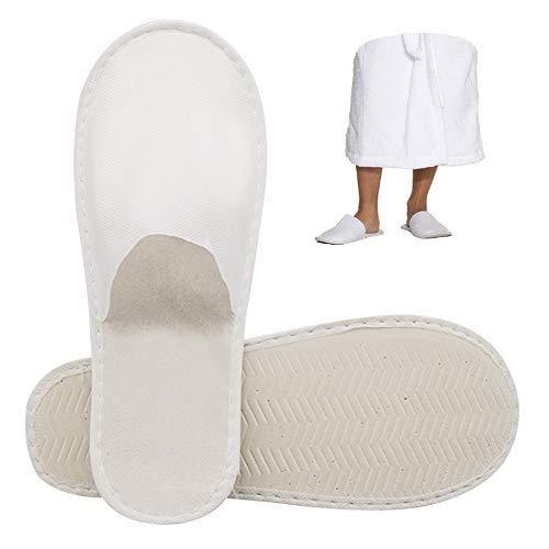 10-paar Einweg Pantoffel Hausschuhe Reise Hotel Rutschfeste Hausschuhe Schuhe Komfortabel für Männer Frauen Kinder Gast Nagelstudio Verwenden Weiß