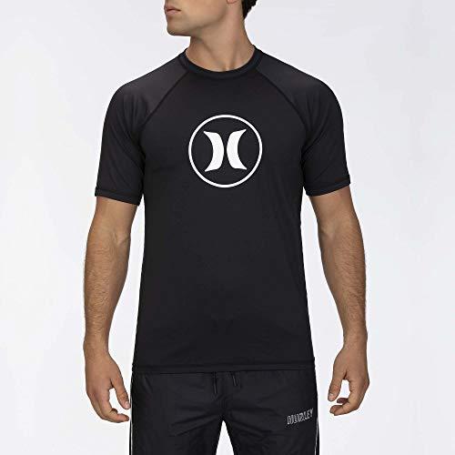Hurley Herren Lycra M Icon Raglan Surf Shirt S/S, Black, S, CJ6751