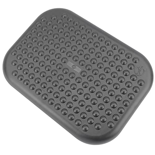 PrimeMatik - Reposapiés con Plataforma Ajustable de plástico Negro 448 x 335 mm