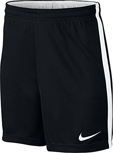Nike Le Short de Football FIT Academy Mixte Enfant, Black/White/White/White, FR (Taille Fabricant : XL)