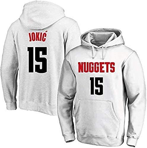 Sudadera NBA Denver Nuggets, Nikola Jokic, talla 15, sudadera con capucha, manga larga, suéter de baloncesto, adecuado para primavera, otoño e invierno (color: A, talla: S), unisex