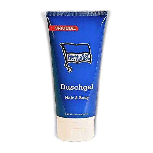 Hertha BSC Berlin 2in1 Duschgel Hair & Body Shampoo, Showergel Sportfrische - Plus Lesezeichen I Love Berlin