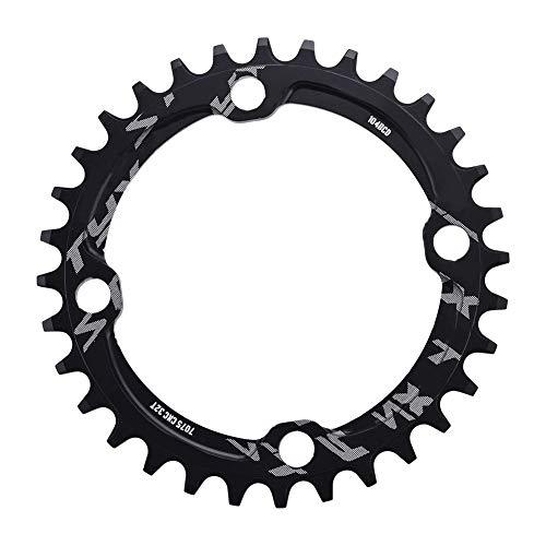 Alomejor Fahrrad Kettenblatt 32/34/36/38T BCD 104mm Stahl Einzel Kurbelkette Ring Ersatzteile für Mountainbike(32T-Schwatz)