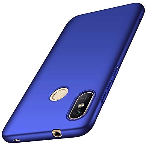 anccer Funda Xiaomi Mi A2 Lite Ultra Slim Anti-Rasguño y Resistente Huellas Dactilares Totalmente Protectora Caso de Duro Cover Case para Xiaomi Mi A2 Lite (Azul Liso)