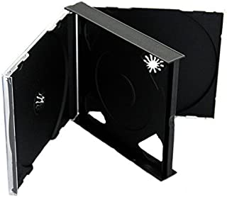 1x CD DVD 4way Jewel Cases 25mm para 4discos con negro bandeja por Dragon Trading®