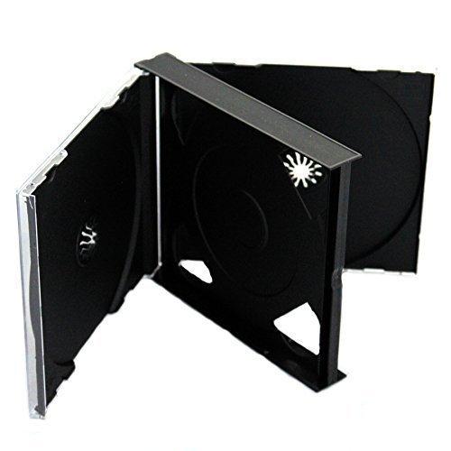 CD DVD 3Wege Jewel Cases 25mm für 3Disc mit schwarzem Tray 1/Pack von Dragon Trading®