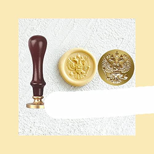 Sello de laca en relieve en 3D con forma especial de latón ovalado cabeza de capítulo sellado de cera sobre mano cuenta sello de rosa mariposa florero sello-Byzantine águila, Francia