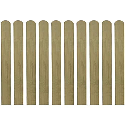 vidaXL 10x Stecche per Recinto Giardino 80 cm in Legno di Pino FSC Recinzione