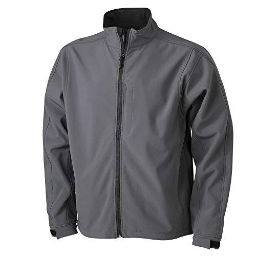James & Nicholson Giacca da uomo, Uomo, Men's Softshell Jacket, nero, 52