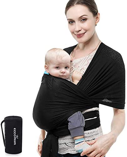 Baby Wrap Carrier Eccomum Baby Sling Carrier for Infant up to 40 lbs Original Stretchy Baby product image