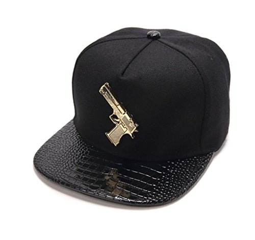 LEEYA NYU20 Original Cotton Hip-Hop Flat-Brimmed hat Baseball caps Trend hat (Black)