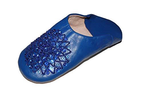 Marrakech Accessoires Orientalische Schuhe Babouche Hausschuhe Pantoffel Slipper aus Marokko - Damen - 905363-0039, Schuhgrösse:42