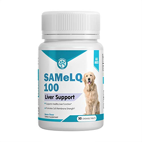 Best SAMeLQ 100 for Dogs & Cats (S-Adenosyl) Liver Support Supplement - Promotes Natural Hepatic Liver Health & Cognitive Brain Support - 30 Chewable Tablets (Bacon Flavor)