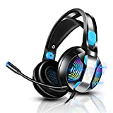 Gaming Headset PS4 Headset with 7.1 Surround Sound, PHOINIKAS Xbox One Headset, Over