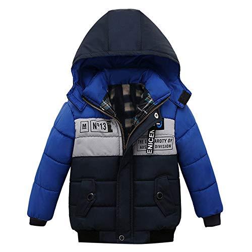 Manteaux bébé, YUYOUG Bébé Blouson Manteau Chaud Enfant Garçon Fille Doudoune à Capuche Sport bébé Ski Chaude Rembourré Hiver Veste Parka Blousons Vêtements (0-2 Ans, Blue)
