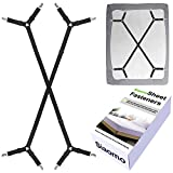 Best Bed Sheet Suspenders - Siaomo Bed Sheet Stays Fasteners - Adjustable Criss-Cross Review