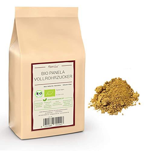 1kg BIO Panela Zucker - unbehandelter Vollrohrzucker aus Kolumbien, ohne jegliche Zusätze – brauner Zucker BIO in biologisch abbaubarer Verpackung