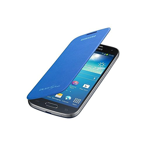 Samsung Original EF-FI919BCEG Flip Handyhülle für Galaxy S4 Mini Cyan