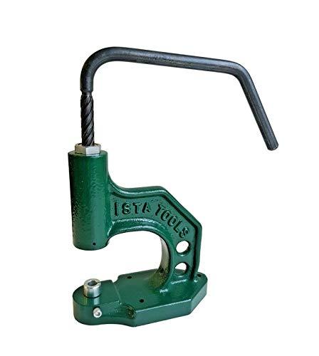 Ista Tools S-Feder oder Ring-Feder, Druckknöpfe 10mm, 12,5mm, 15mm Messing, rostfrei, Knopf, Press-Studs (1, Universal-Spindelpresse)