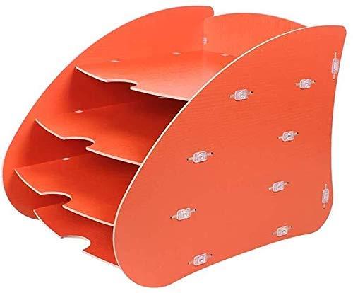 LYMUP Archivadores Titular de Archivos de múltiples Funciones de Madera del Estante Zhaoshunli Producto frecuencia de Entrega Multi-Capa de Tablero Compuesto de Madera (Color : Orange)