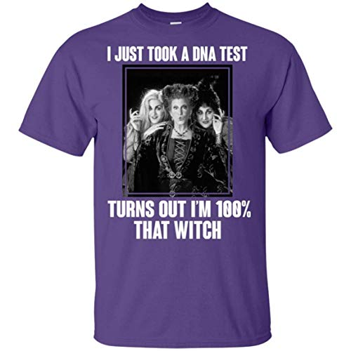 MTFITNESS I Just Took A Dna Test Turns out I?m 100% That Witch Hocus Pocus V-Neck Mens Cotton Soft T Shirt