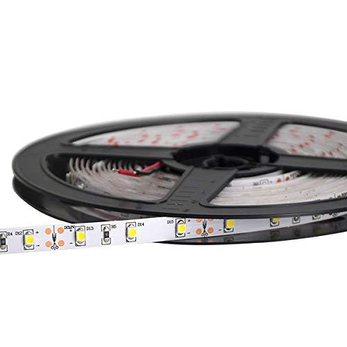 Tira LED 5 metros 300 SMD3528 24W IP20 Blanco Natural 4000k 1800lm 120° DC12V 0634