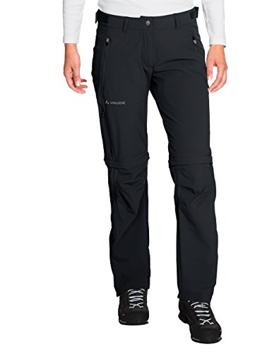 VAUDE Damen Hose Women's Farley Stretch ZO T-Zip Pants, Black, 40, 401440100400