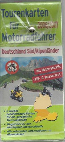Tourenkarten für Motorradfahrer 2006/2007 - Deutschland Süd/Alpenländer (8 Karten)