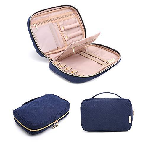 bagsmart Schmuckbeutel für Ringe, Ohrringe, Halskette, Armbänder, Reisen, Blau