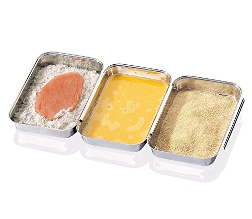 stainless steel breading tray - 1