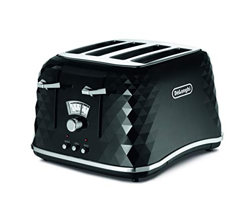 De'Longhi Brilliante 4-slot toaster, reheat, defrost & 6 browning settings,...