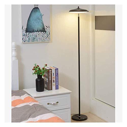 HUAQINEI Lámpara de pie Duradera LED Dormitorio Mesita de Noche Oro Regulable Cálido nórdico Minimalista Estudio Creativo Sala de Estar Vertical Hyococ (Tamaño: Negro)