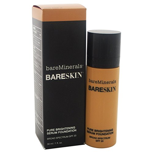 bareMinerals bareSkin Pure Brightening Serum Foundation SPF 20, Bare Beige 08, 1 Fl Oz