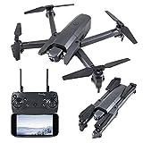ARTOOY WiFi FPV Aviones no tripulados, Plegable RC Quadcopter Las aeronaves con 4K 1080P cámara y Control Remoto, Juguetes voladores Adecuado para Niños y Adultos