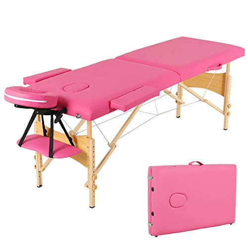 Learn More About Uenjoy Folding Massage Table 84'' Professional Massage Bed 2 Fold Lash Bed with Hea...