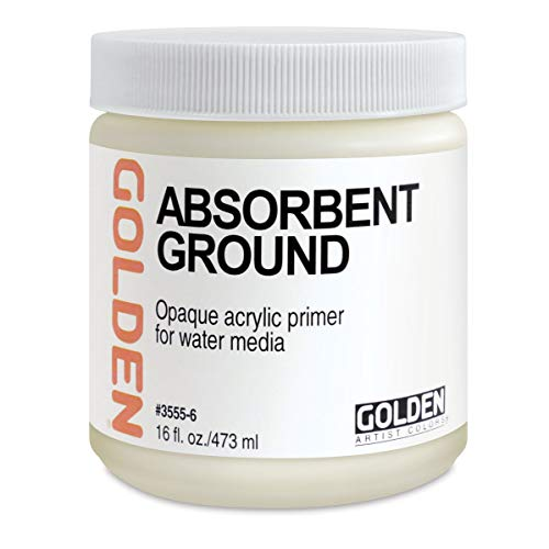Golden Artist Colors 16 oz Absorbent Ground (White),1-Pack