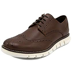 Nautica Men's Wingdeck Oxford Shoe Fashion Sneaker-Brown Smooth/White-8