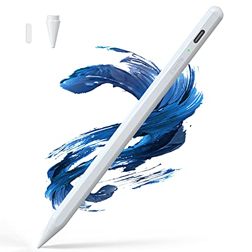 Stylus Pen for iPad with Palm Rejection, Active Pencil Compatible with (2018 2019 2020 2021) Apple M1 iPad Pro (11/12.9 Inch), iPad 6th/7th/8th Gen, iPad Air 3rd 4th Gen, iPad Mini 5th Gen … (White)