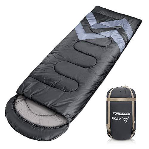 Forbidden Road Backpacking Sleeping Bag - 3 Season Warm & Cool Weather, Portable Single Sleep Bag...