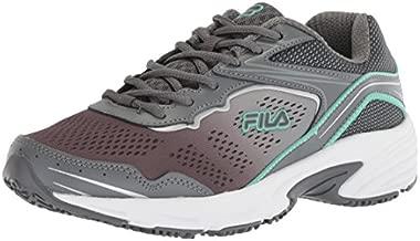 Fila womens Runtronic Slip Resistant Running Food Service Shoe, Castlerock/Monument/Cockatoo, 7.5 US