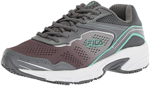 Fila Women's Runtronic Slip Resistant Running Shoe Food Service, Castlerock/Monument/Cockatoo, 9