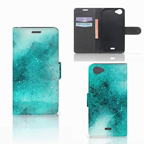 B2Ctelecom Hülle für Wiko Rainbow Jam Tasche Malerei Blau